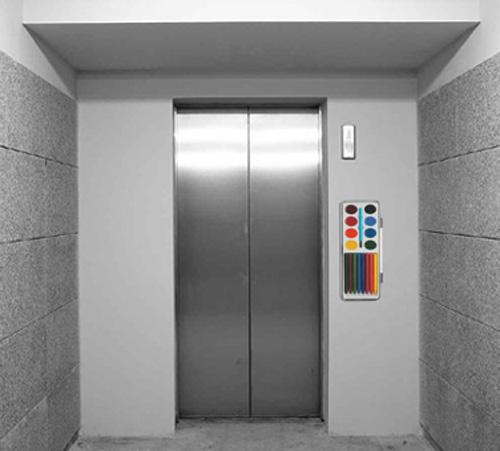 selfie ascensore