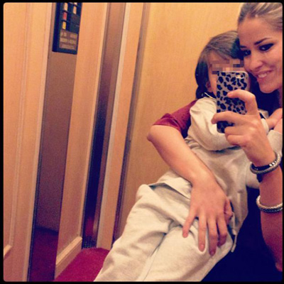 Selfie Ascensore elena santarelli